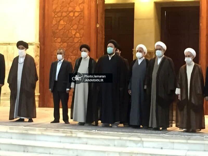اولین عکس از رئیسی در کنار سیدحسن خمینی بعد از رئیس جمهور شدن