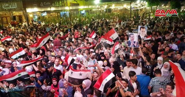 بشار اسد در انتخابات ریاست جمهوری سوریه پیروز شد/ جشن و پایکوبی مردم سوریه