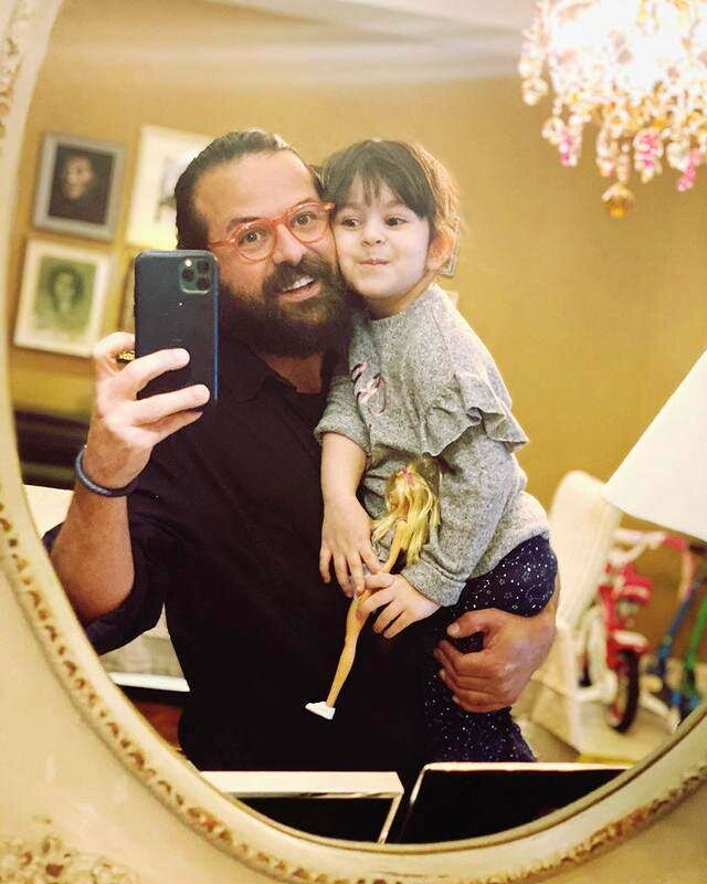هومن سیدی و دخترش در روز پدر /عکس