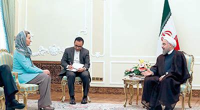 ماموریت دو وجهی موگرینی در ایران