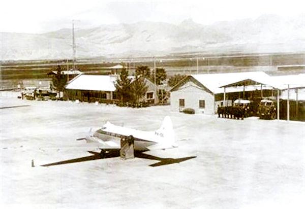 نخستین هواپیمایی که در مسجدسلیمان به زمین نشست