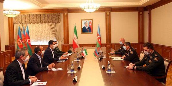 تشکر وزیر دفاع جمهوری آذربایجان از ایران
