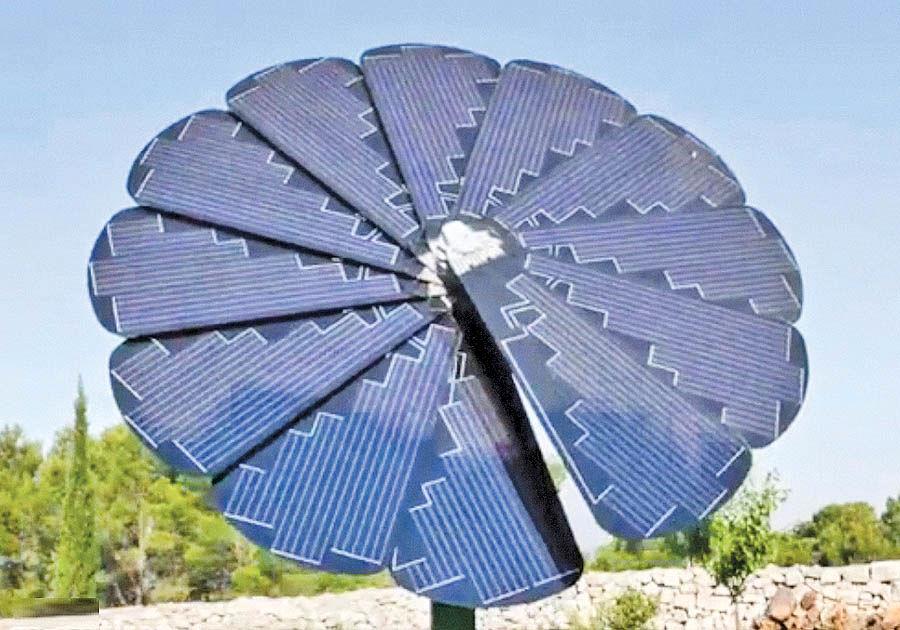 ساخت پنل خورشیدی با الهام از گل