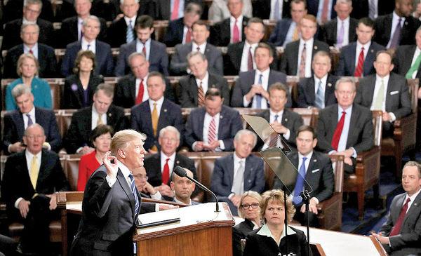 غل و زنجیر کنگره بر پای ترامپ