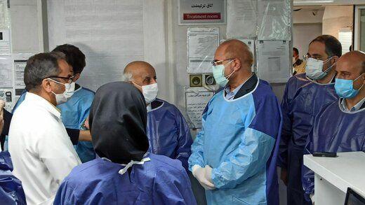 چند اشکال مهم اخلاقی و قانونی بازدید قالیباف از بخش کرونای یک بیمارستان