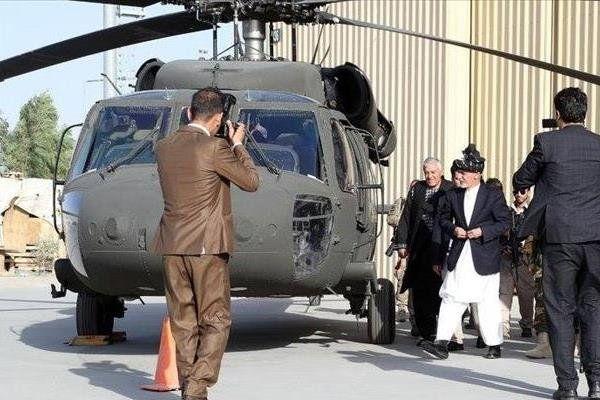 انهدام دو بالگرد ارتش افغانستان توسط طالبان