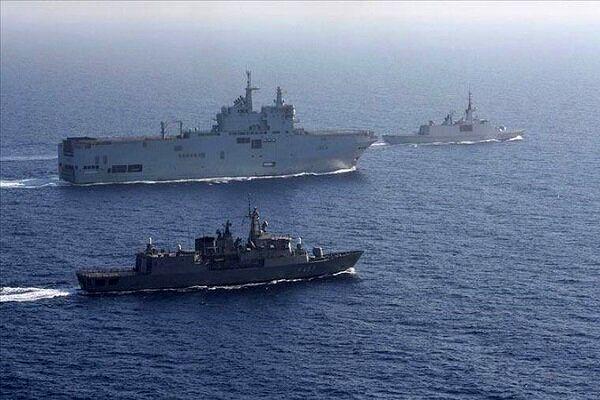 رزمایش نظامی ترکیه در دریای مدیترانه
