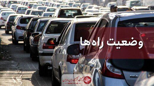 آخرین وضعیت ترافیکی جادههای چالوس و فیروزکوه