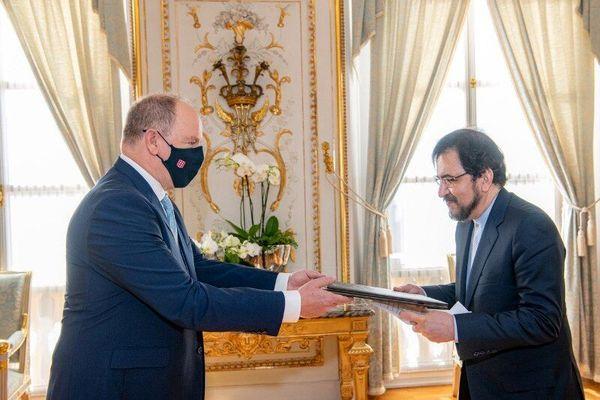 تسلیم استوارنامه سفیر ایران در فرانسه به شاهزاده موناکو