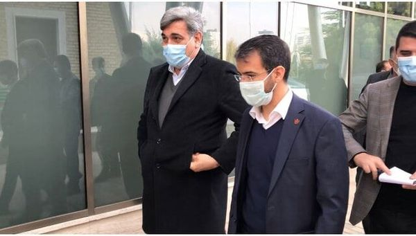 حضور شهردار تهران در محل تمرین پرسپولیس