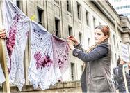 اعتراض به جنگ با رختهای خونین