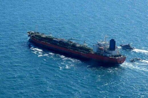تصویری از نفتکش کره جنوبی در حال ترک ایران