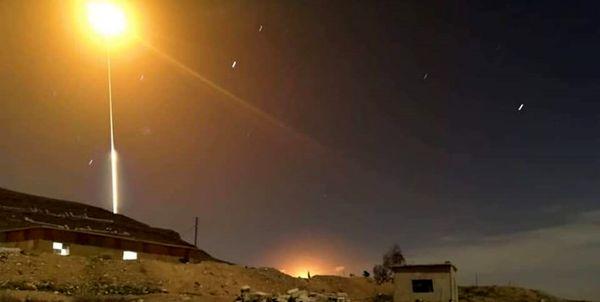 مقابله پدافند هوایی سوریه با اهداف متخاصم