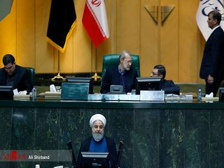 حضور روحانی در مجلس