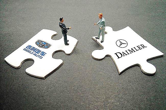 همکاری جیلی و دایملر