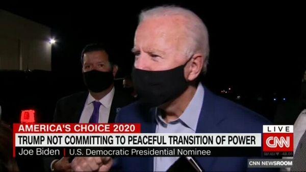 واکنش بایدن به امتناع ترامپ از انتقال مسالمت آمیز قدرت
