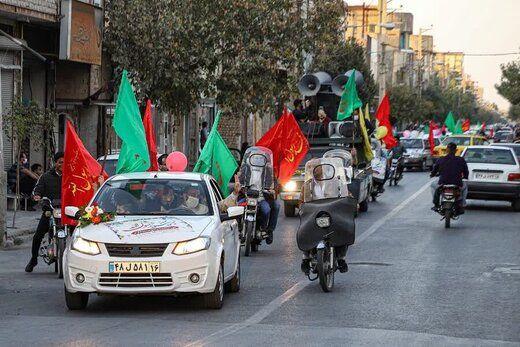 تجمع غیرقانونی و خودرویی در قم علیه برجام و مذاکره