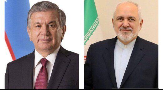دیدار و گفتگوی ظریف با رئیس جمهور ازبکستان