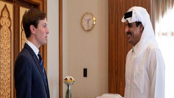 دیدار جرد کوشنر با امیر قطر در دوحه