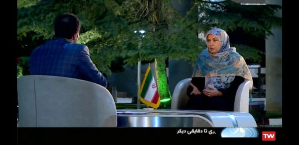 تصویر همسر کاندیدای ریاست جمهوری در تلویزیون