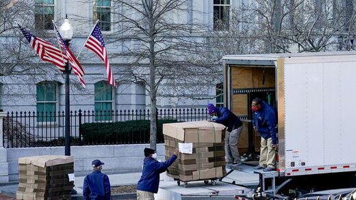آغاز اثاثکشی در کاخ سفید/ وسایل ترامپ در حال جمع شدن+عکس