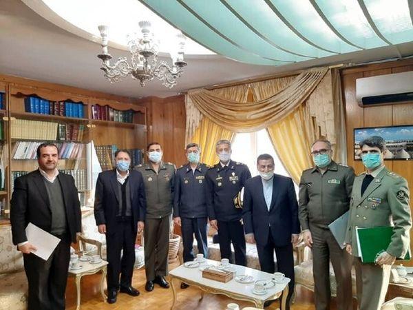 جلسه فرمانده کل ارتش با رییس مجلس در مورد بودجه