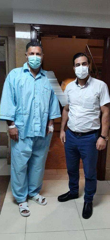 عکس   علی دایی در بیمارستان بستری شد