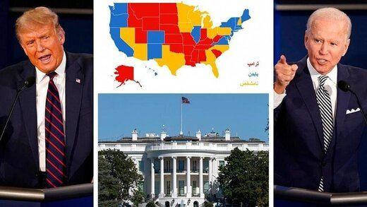 بایدن همچنان پیشتاز نظرسنجیهای انتخابات