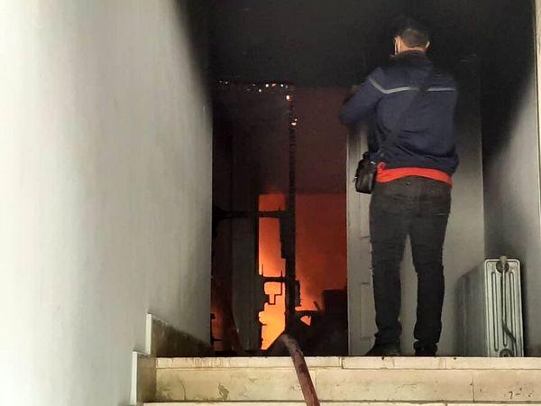 آتش سوزی در بیمارستان بقیه الله تهران