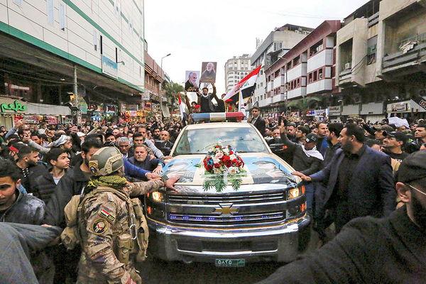 وداع باشکوه مردم عراق بـا سردار صلـح