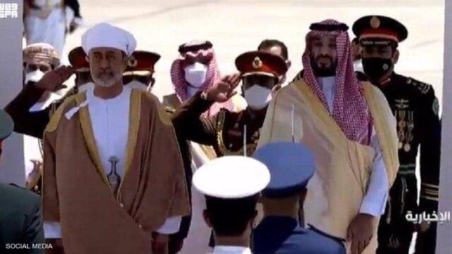 استقبال باشکوه بن سلمان از سلطان عمان/عکس