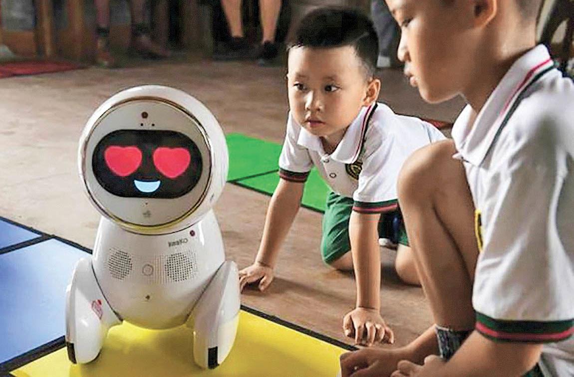 آموزش در مهدکودک با روبات معلم