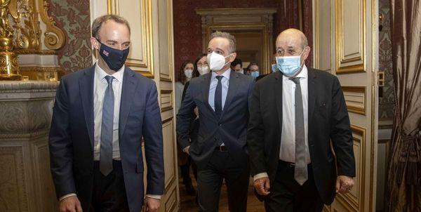 رایزنی وزرای خارجه سه کشور اروپایی درباره ایران