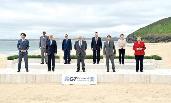 آغاز نشست سران G7 در لندن