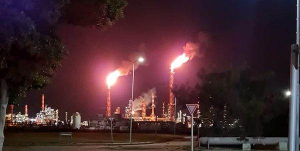 آتشسوزی در پالایشگاه نفت حیفا