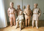 ساخت مجسمه از مقوای کارتنها