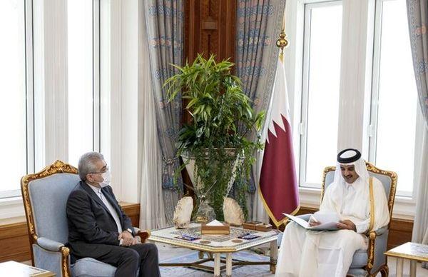 پیام رئیس جمهور ایران به امیر قطر تقدیم شد
