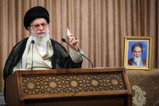 رهبر انقلاب: مبارزه مشروع با رژیم غاصب را ادامه دهید که ناچار به قبول همهپرسی شود