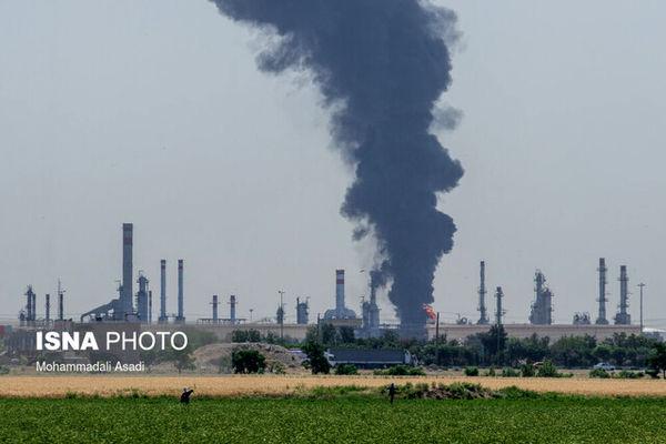 آخرین وضعیت حریق پالایشگاه تهران