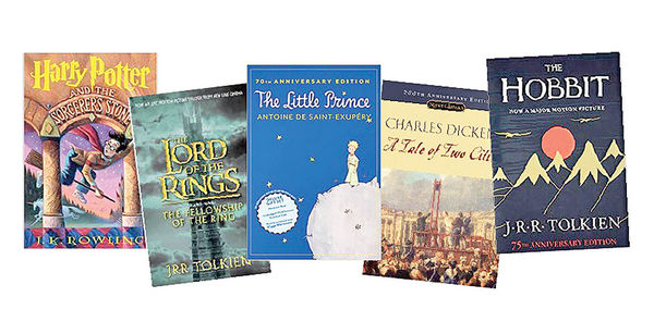 آمار پرفروشترین کتابهای جهان