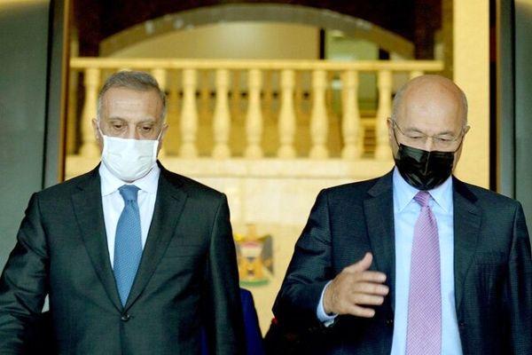 رایزنی رئیس جمهور و نخست وزیر عراق درباره انتخابات پیش رو