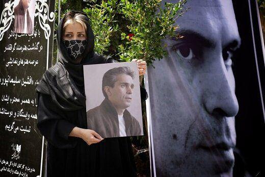 پیکر بازیگر جوان به خاک سپرده شد+ تصاویر