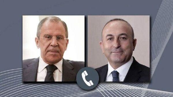 رایزنی وزیران خارجه ترکیه و روسیه درباره قرهباغ، لیبی و سوریه