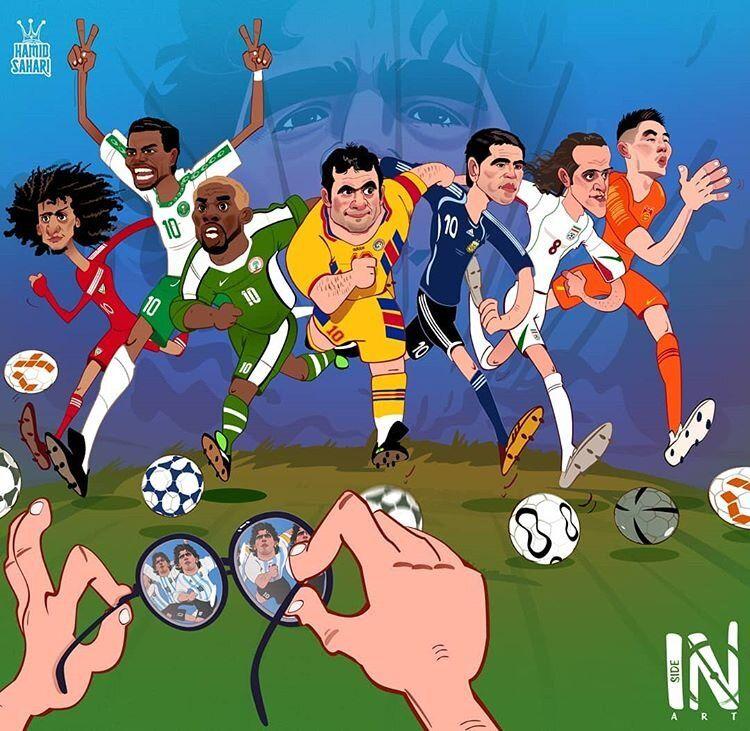 ببینید: این بازیکنان برای خود یک پا مارادونا بودند!