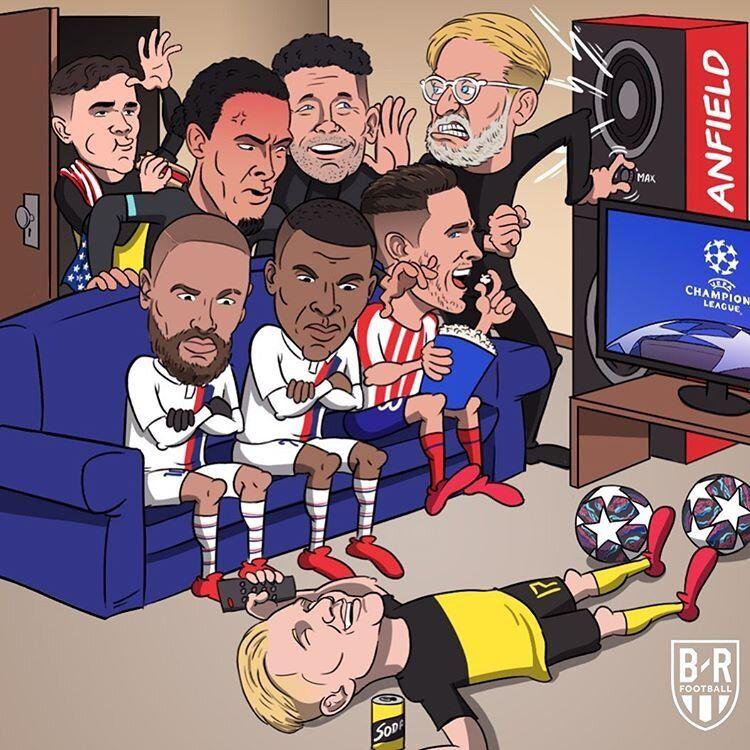وضعیت اتاق شلوغ لیگ قهرمانان اروپا را ببینید!