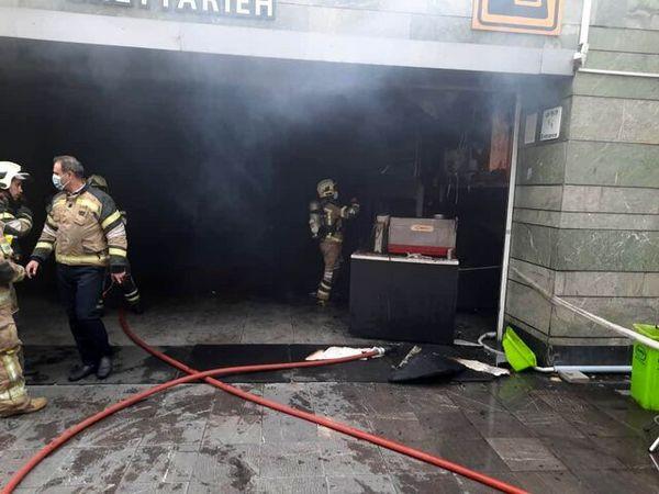جزئیات آتشسوزی ورودی ایستگاه قیطریه