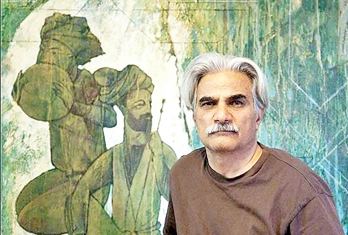 مرور آثار کهن ادبیات در نمایشگاه نقاشی ایرج اسکندری