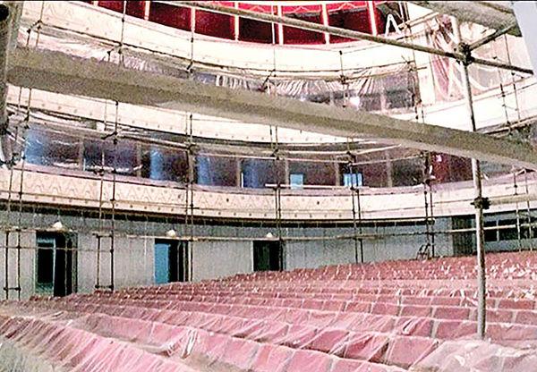 بازسازی صحن معروفترین تالار هنری ایران