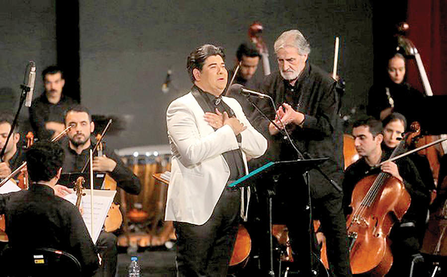 اجرای ارکستر ملی ایران با خوانندگی سالار عقیلی  در سمنان