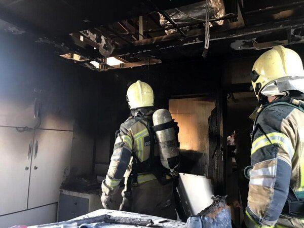 تصاویر آتشسوزی در بیمارستان بقیه الله تهران